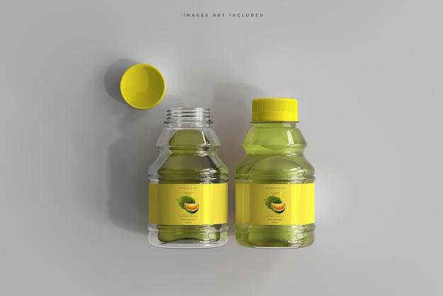 Maquette de bouteilles de boisson