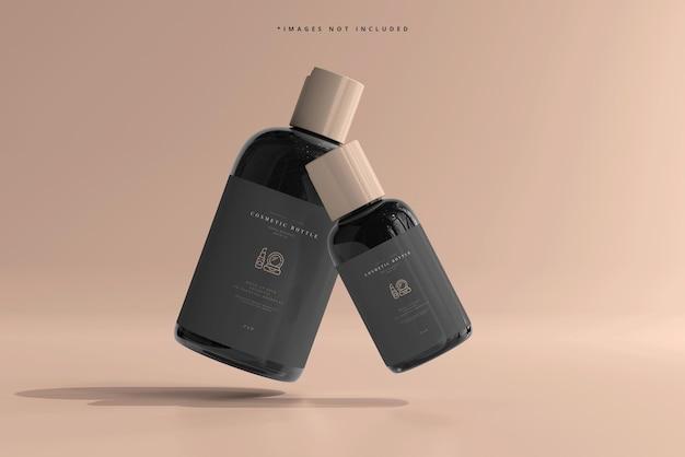 Maquette de bouteilles cosmétiques