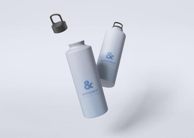 Maquette de bouteilles d'eau de sport