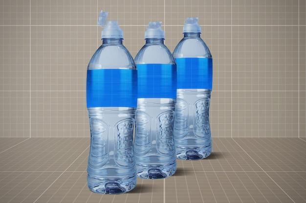 Maquette de bouteilles d'eau