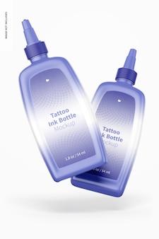 Maquette de bouteilles d'encre de tatouage de 1,8 oz
