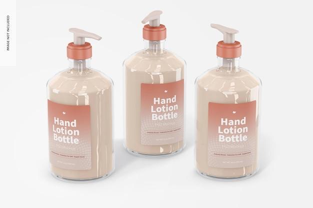 Maquette de bouteilles de lotion pour les mains de 500 ml