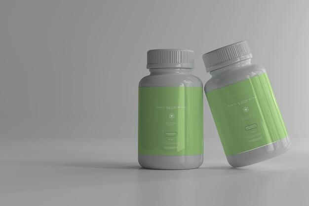 Maquette de bouteilles de médecine
