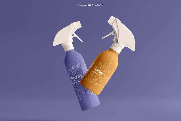 Maquette de bouteilles de pulvérisation cosmétique