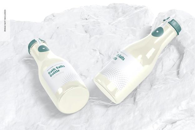 Maquette de bouteilles de sels de bain