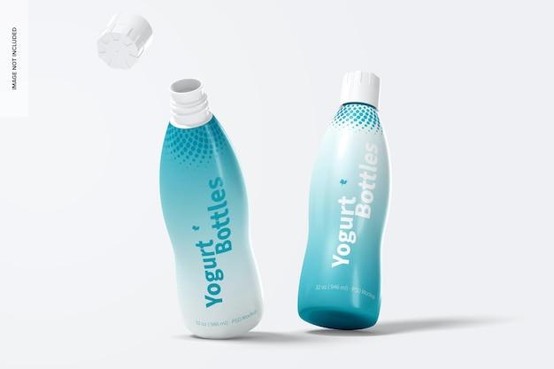 Maquette de bouteilles de yogourt de 32 oz