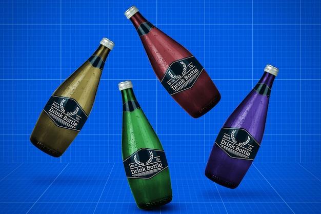 Maquette de bouteilles