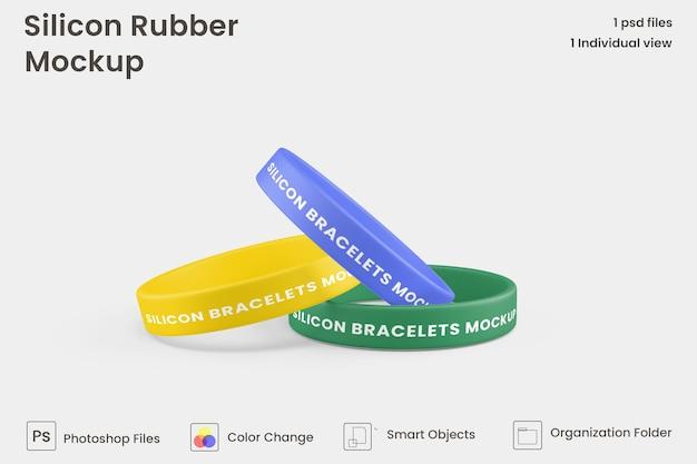 Maquette de bracelet en caoutchouc de silicone