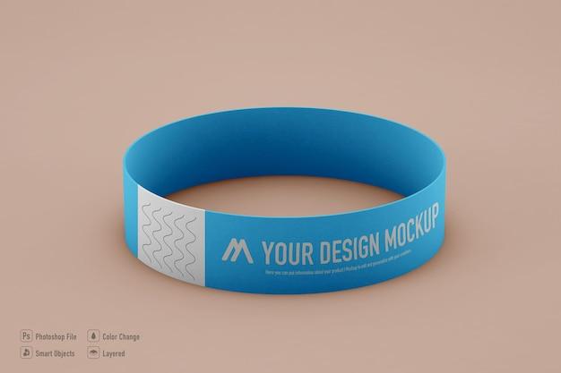Maquette de bracelet isolée