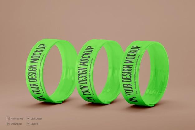 Maquette de bracelet slap isolée