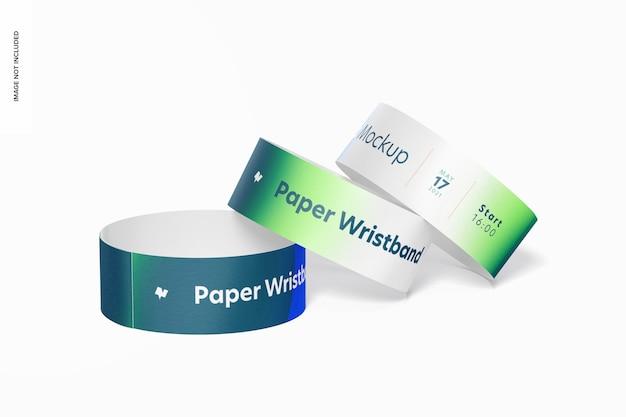 Maquette de bracelets en papier,