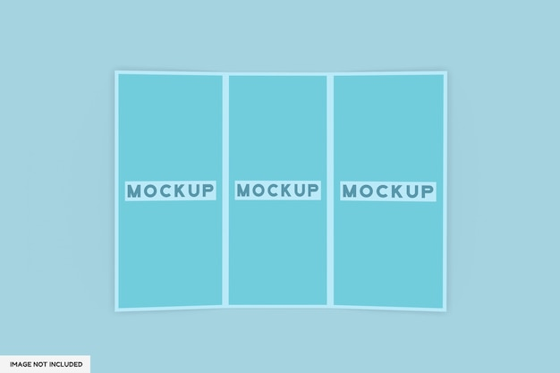 Maquette de brochure en 3 volets isolée