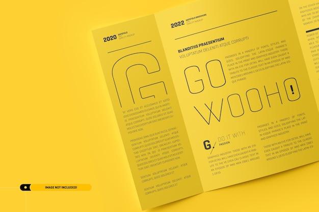 Maquette de brochure a4 gatefold