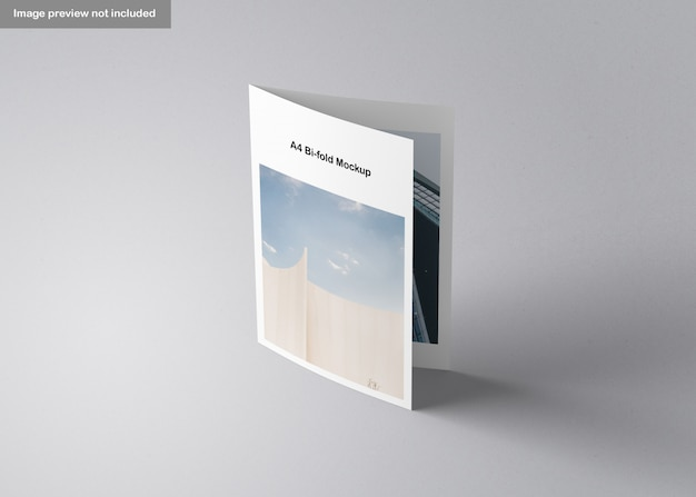 Maquette de brochure a4 pliante