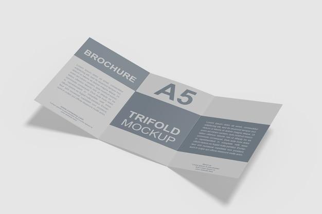 Maquette de brochure a5 à trois volets