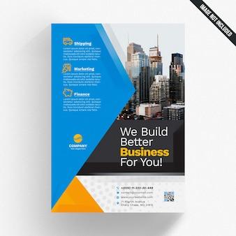 Maquette de brochure d'affaires géométrique moderne