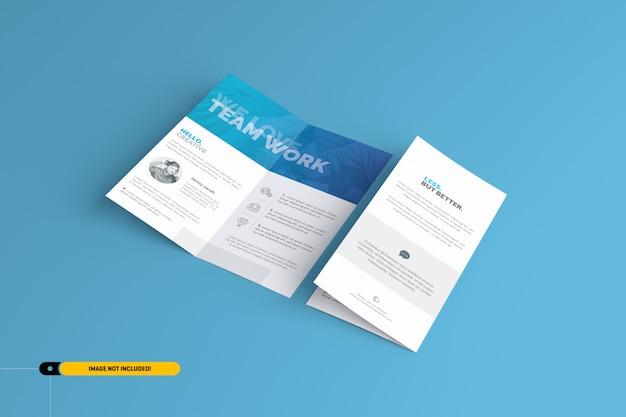 Maquette de brochure bifold