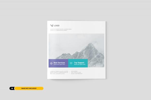 Maquette de brochure carrée