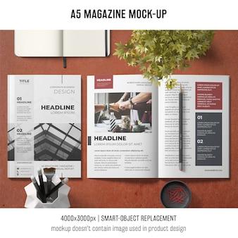 Maquette de brochure commerciale a5
