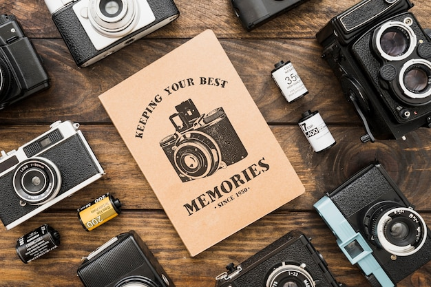 Maquette de brochure avec le concept de la photographie