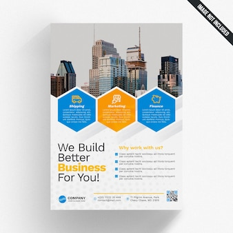 Maquette de brochure de création d'entreprise
