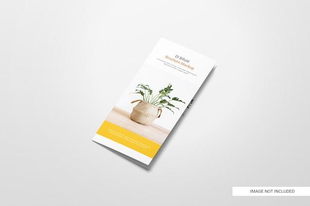 Maquette de brochure dépliant à deux volets