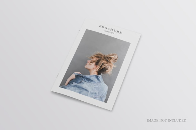 Maquette de brochure ou de dépliant minimaliste