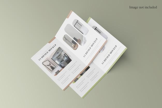 Maquette de brochure à deux volets a4 stack
