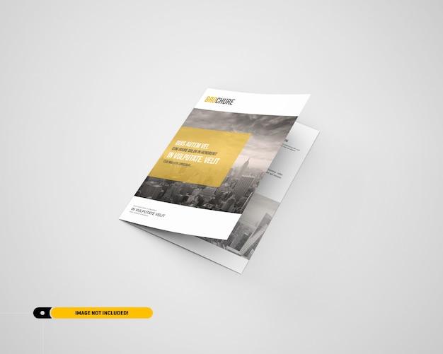 Maquette de brochure à deux volets a5 / a5