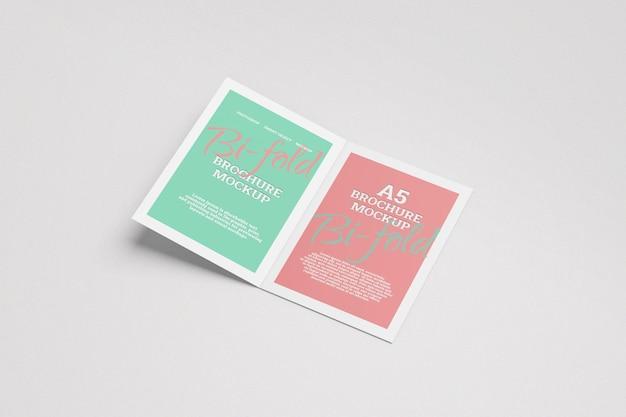 Maquette de brochure à deux volets a5