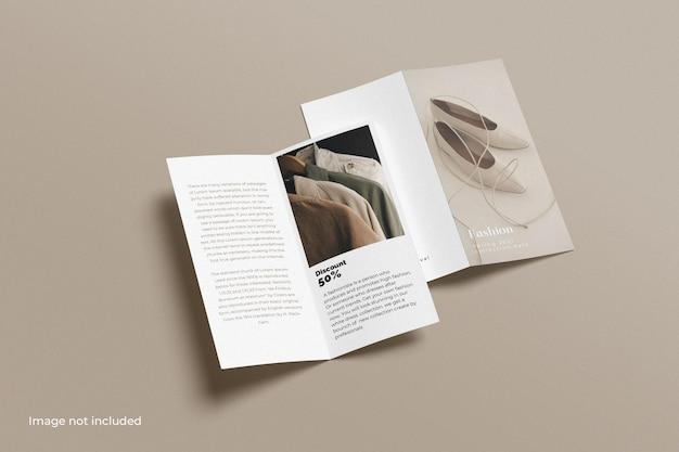 Maquette de brochure à deux volets dl