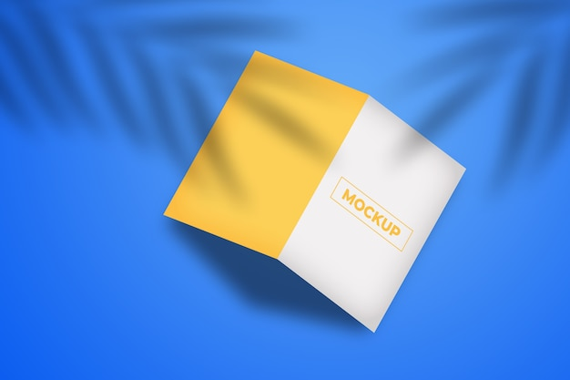 Maquette de brochure à deux volets minimaliste