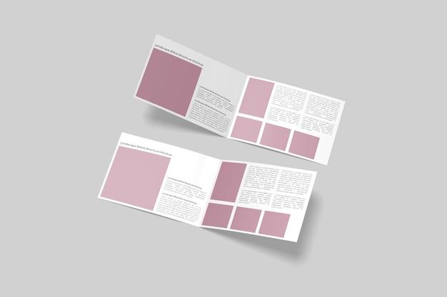 Maquette de brochure à deux volets de paysage isolée