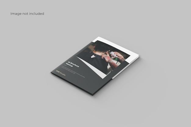 Maquette de brochure à deux volets en perspective