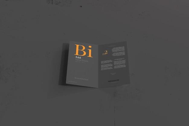 Maquette de brochure à deux volets de taille dl