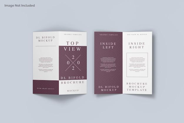 Maquette De Brochure à Deux Volets Vue De Dessus PSD Premium