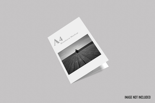 Maquette de brochure à deux volets