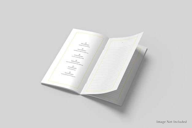 Maquette de brochure dl à deux volets