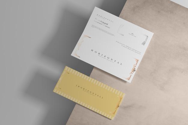 Maquette de brochure dl pliante horizontale