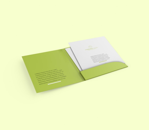 Maquette de brochure de dossier a4