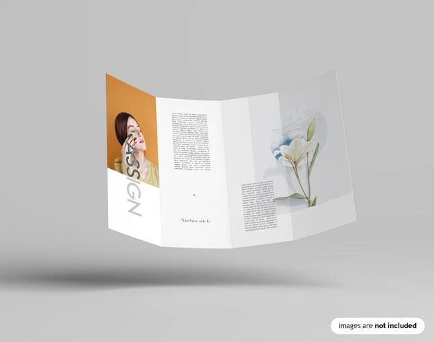 Maquette de brochure double gatefold