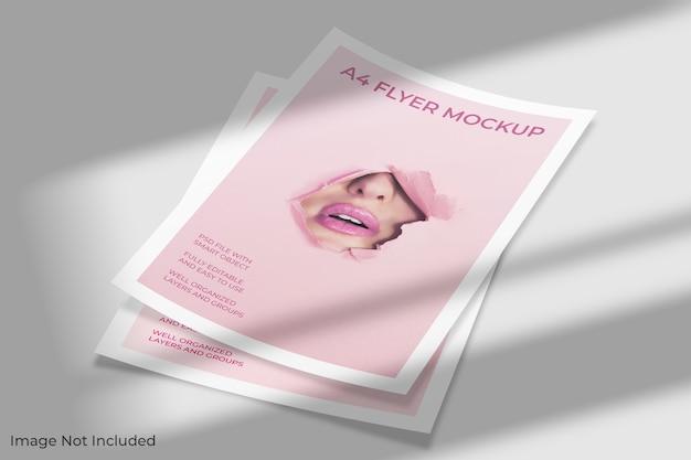 Maquette de brochure flyer a4
