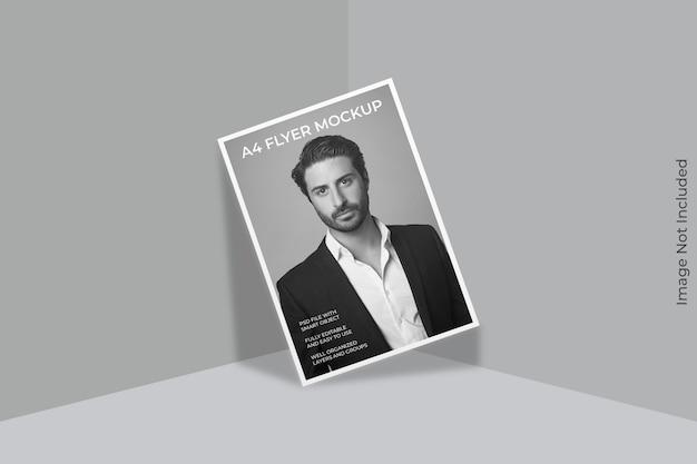 Maquette de brochure flyer isolée