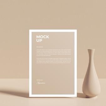 Maquette de brochure de flyer papier a4 réaliste