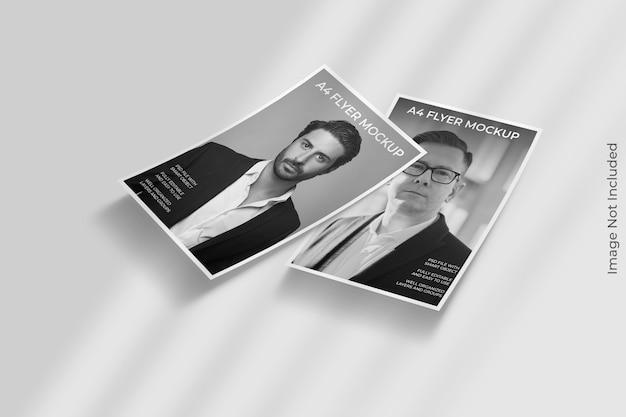 Maquette de brochure flyer avec superposition d'ombre