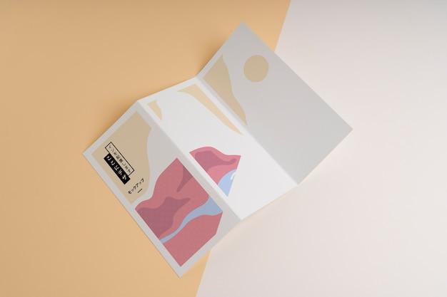 Maquette De Brochure De Formes Abstraites Psd gratuit