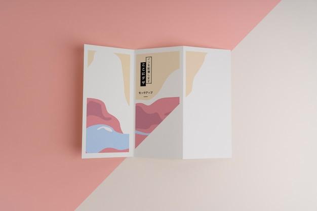 Maquette de brochure de formes abstraites