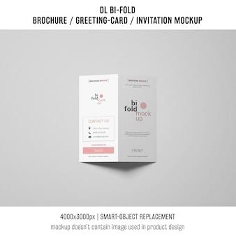 Maquette ou brochure d'invitation bi-fold