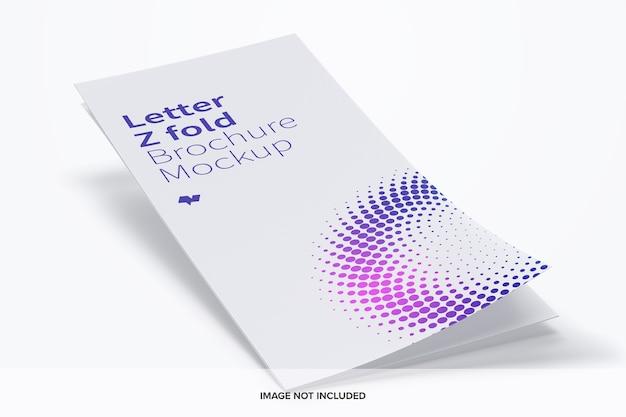 Maquette de brochure lettre z pli