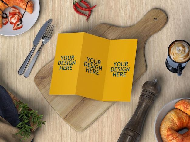 Maquette de brochure de menu